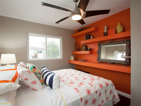 bedrooms with orange walls photos hgtv