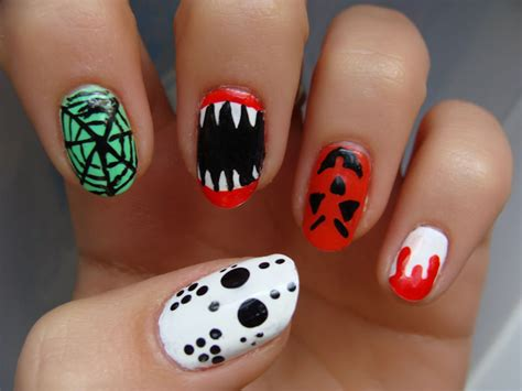 easy nail art halloween halloween nail designs pictures yve style com