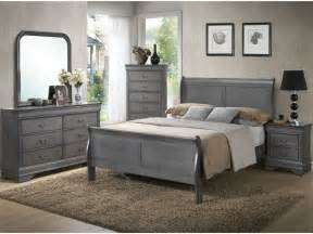 Grey Bedroom Sets Lifestyle 4934 Louis Philippe Gray 5 Pc King Bedroom Set