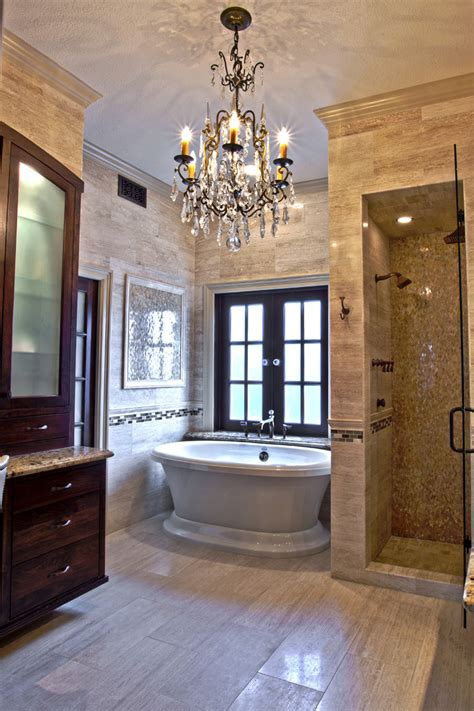 Tuscan Chandelier Chic Free Standing Bath Tubs Fashion Houston Traditional