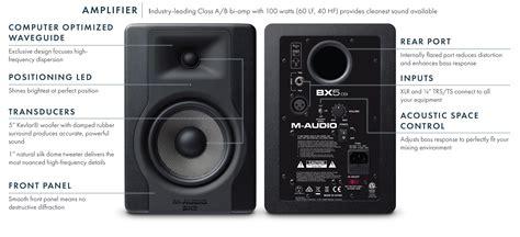 M Audio Bx5 by M Audio Bx5 D3 5 Quot Powered Studio Monitor Sonido Live
