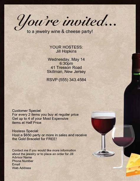 wine and cheese invitation template muslimsoftware