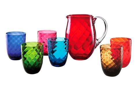 bicchieri in vetro di murano bicchieri colorati idee per apparecchiare la tavola