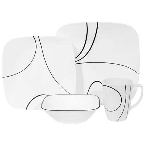 black pattern dinner set corelle simple lines dinnerware on shopworldkitchen com