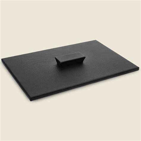 desk cover leather letter tray cover hide papers keep desk spaces clean prestige office