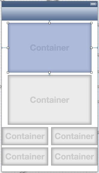autolayout pin menu ios autolayout both containers in the same size stack