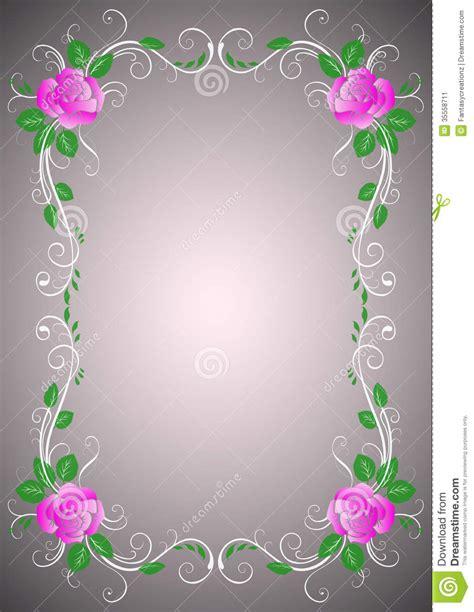 design flower rose rose border stock image image 35558711