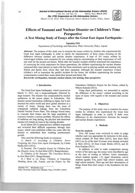 earthquake journal r173 ito t 2014 effects of tsunami and nuclear