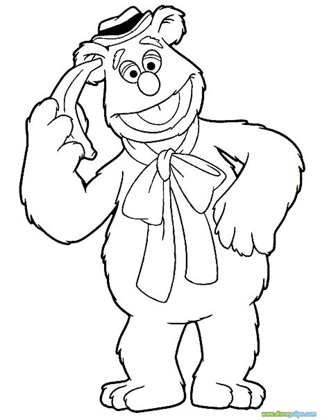 Fozzie Coloring Pages the muppets printable coloring pages disney coloring book