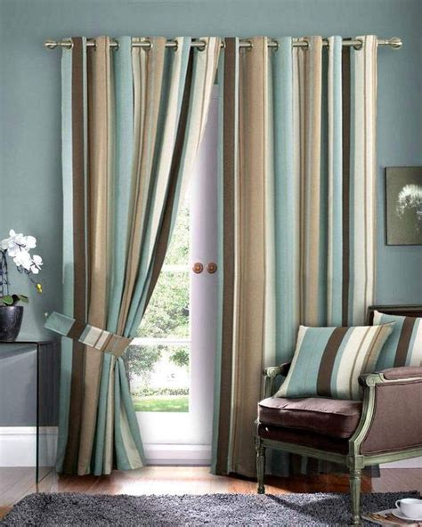 blue brown curtains living room