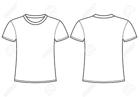 white shirt template plain white t shirt front and back clipart best