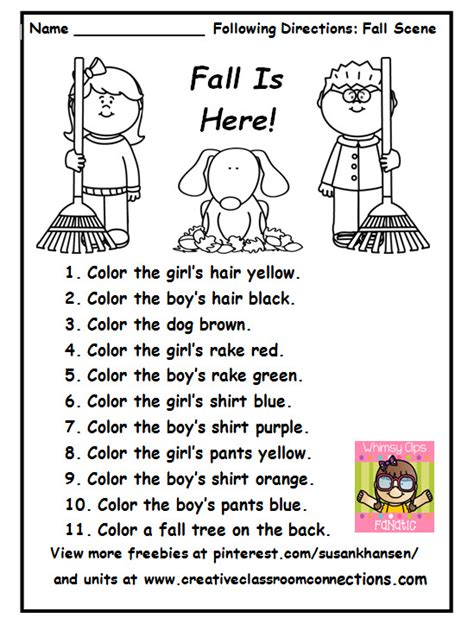 free printable worksheets for kindergarten teachers this free printable is a great fall activity for following