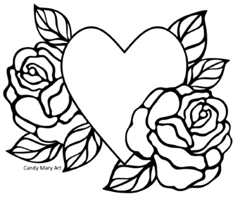Coloriage Coeur Old School Candy Mary St Coloring Page