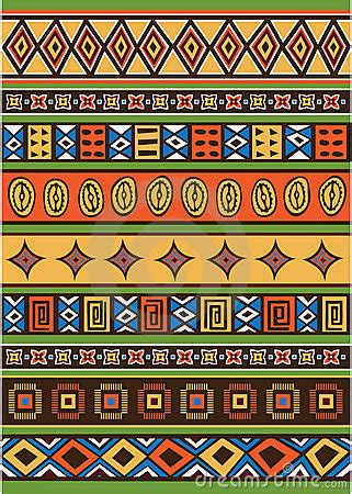 set traditional african ndebele patterns vector stock set of african pattern royalty free stock image image