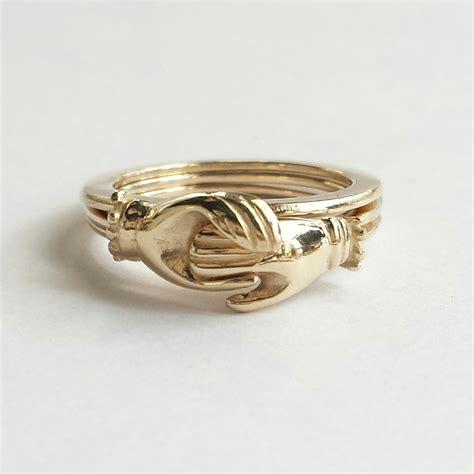 Ring Verlobung by 14k Gold Gimmel Ring Antike Fede Ring Gold
