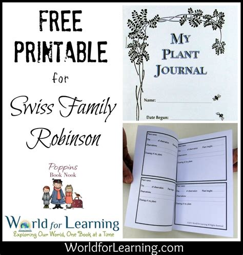 printable seed journal free printable plant journal world for learning