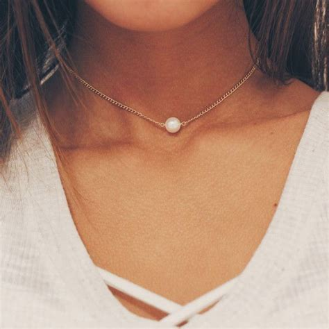 gold chain choker necklace by best 20 pearl choker ideas on pearl chain