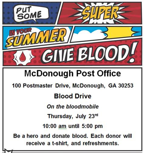 Mcdonough Ga Post Office by Lifesouth Blood Drive Mcdonough Post Office Jul 23 2015