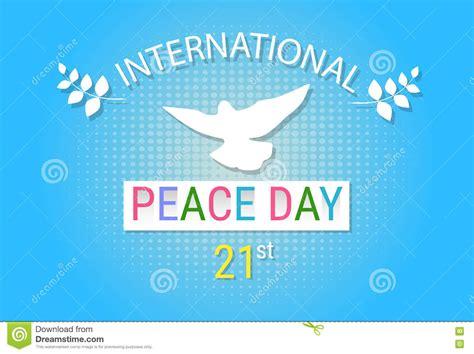 I Do Shalat 5 Times A Day Xs s 237 mbolo do p 225 ssaro da pomba do branco do cartaz do dia da paz de mundo ilustra 231 227 o do vetor