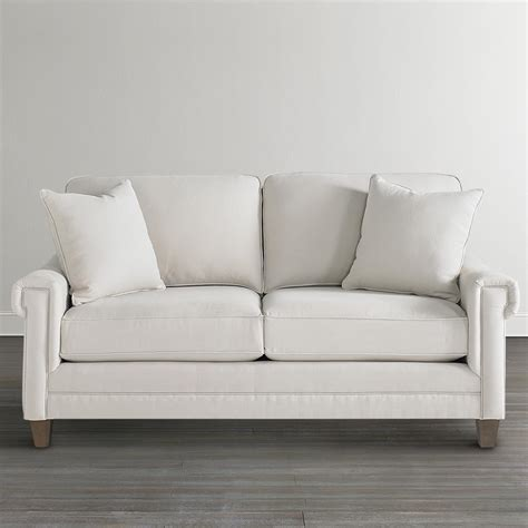 small white couch off white custom upholstered studio sofa
