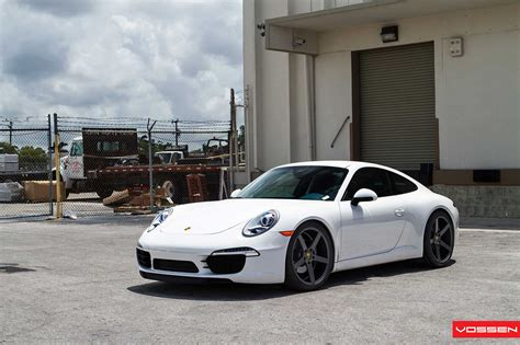 white porsche 911 white 2012 porsche 911 on vossen wheels