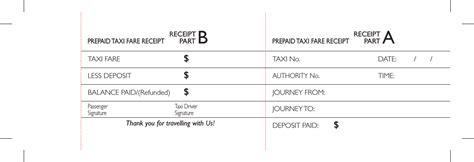 Pre Paid Rent Receipt Template by Prepaid Taxi Fare Receipt Template Pdf