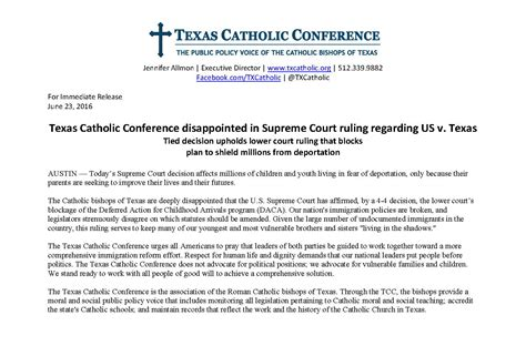 supreme court ruling tcc disappointed in supreme court ruling diocese of laredo