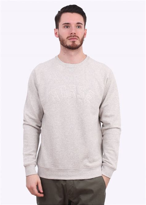 Sweater Hoodie Chion C Logo Grey Premium norse projects ketel logo sweater light grey