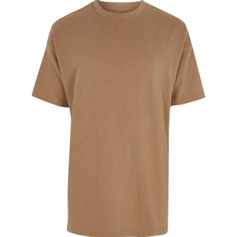 light brown t shirt light brown short sleeve oversized t shirt t shirts
