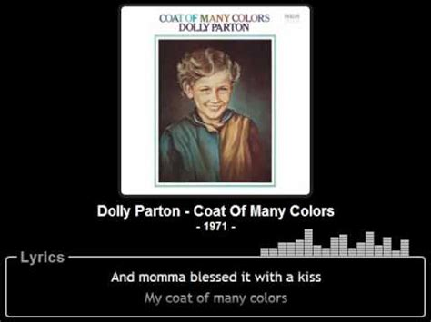 coat of many colors lyrics dolly parton coat of many colors lyrics