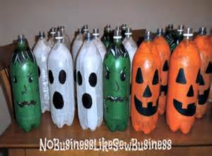 decorate your house at halloween with recycled items