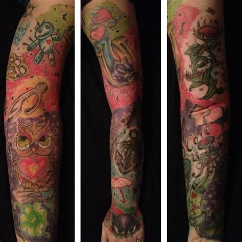 tattoo name bad luck good and bad luck sleeve tattoo by piercedpinup on deviantart