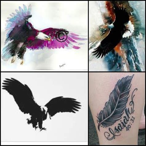 watercolor tattoo eagle watercolor eagle isaiah 40 31 i want