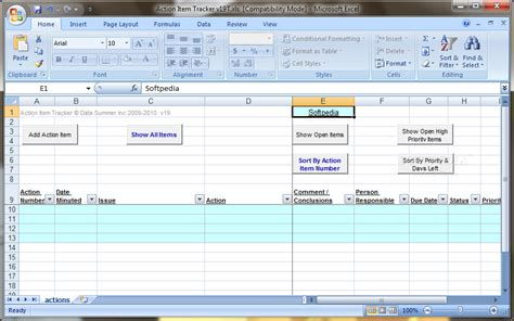 Action Item Tracker Template Excel Excel Templates Item Tracker Template Excel
