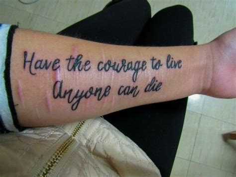 tattoos to cover cutting scars newest ink quote scars