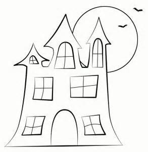 Haunted House Outline by Haunted House Digi St Printables