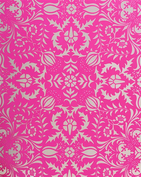 Decoupage Home Decor by Dauphine Pink Damask Wallpaper Little Crown Interiors