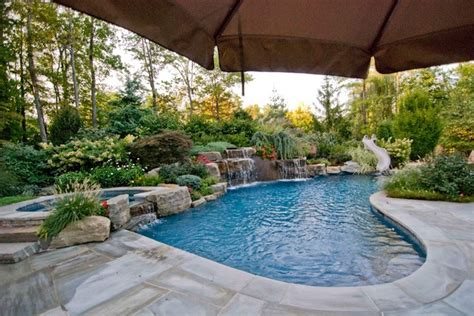 swimming pool landscaping ideas bergen county northern nj traditional pool new york by