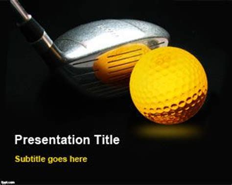 Sports Archives Free Powerpoint Templates Golf Course Powerpoint Templates
