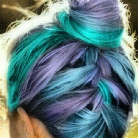 hair green blue blue green and purple hair hair pinterest