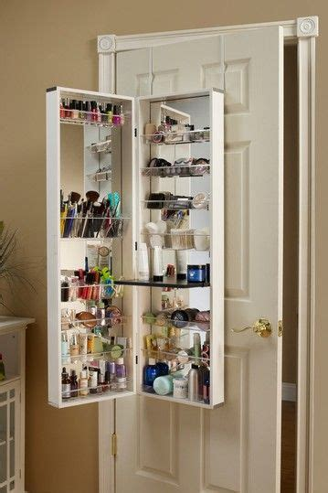 bathroom makeup storage ideas over the door white beauty organizer love love love