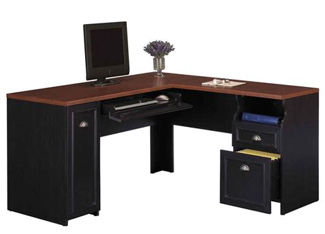 Black L Shape Desk For Home Office Black Office Desk For Home