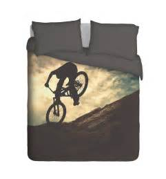 Cot Duvet And Pillow Set Mountain Bike Duvet Cover Set Custom Printed Bedding