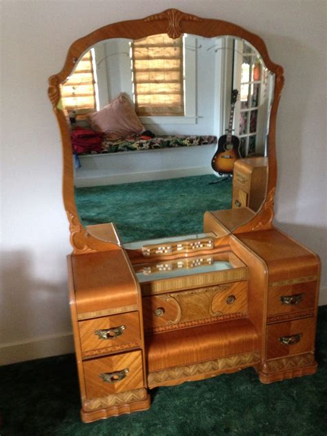 art deco waterfall bedroom furniture 5 piece art deco waterfall bedroom set ebay