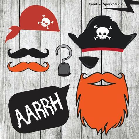 printable pirate photo booth props diy real pirate party photo booth props printable pirate