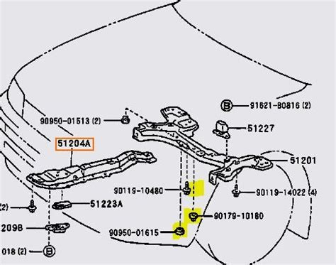 what is 1994 toyota corolla rear motor mount replacing