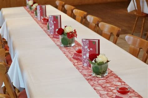 Tischdeko Rot Wei Hochzeit by Hochzeit In Murnau Blumen Krempl G 228 Rtnerei Und