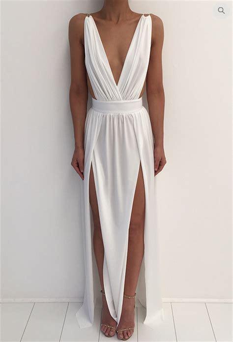 Jc Longdress V Back 132 formal dress simple a line prom dress white v neck prom dresses evening dress formal