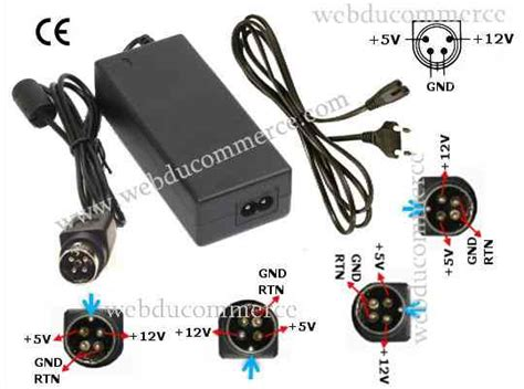 alimentatore 4 pin alimentation 4 pin 12v 5v