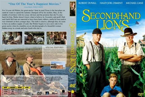 film second hand lion secondhand lions movie dvd scanned covers